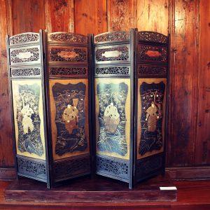 Parawan, Japonia, XIX w., laka rekonstruowana