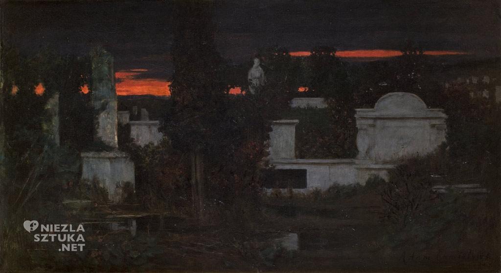 Adam Chmielowski Cmentarz włoski o zmroku 1880, Muzeum Narodowe w Krakowie