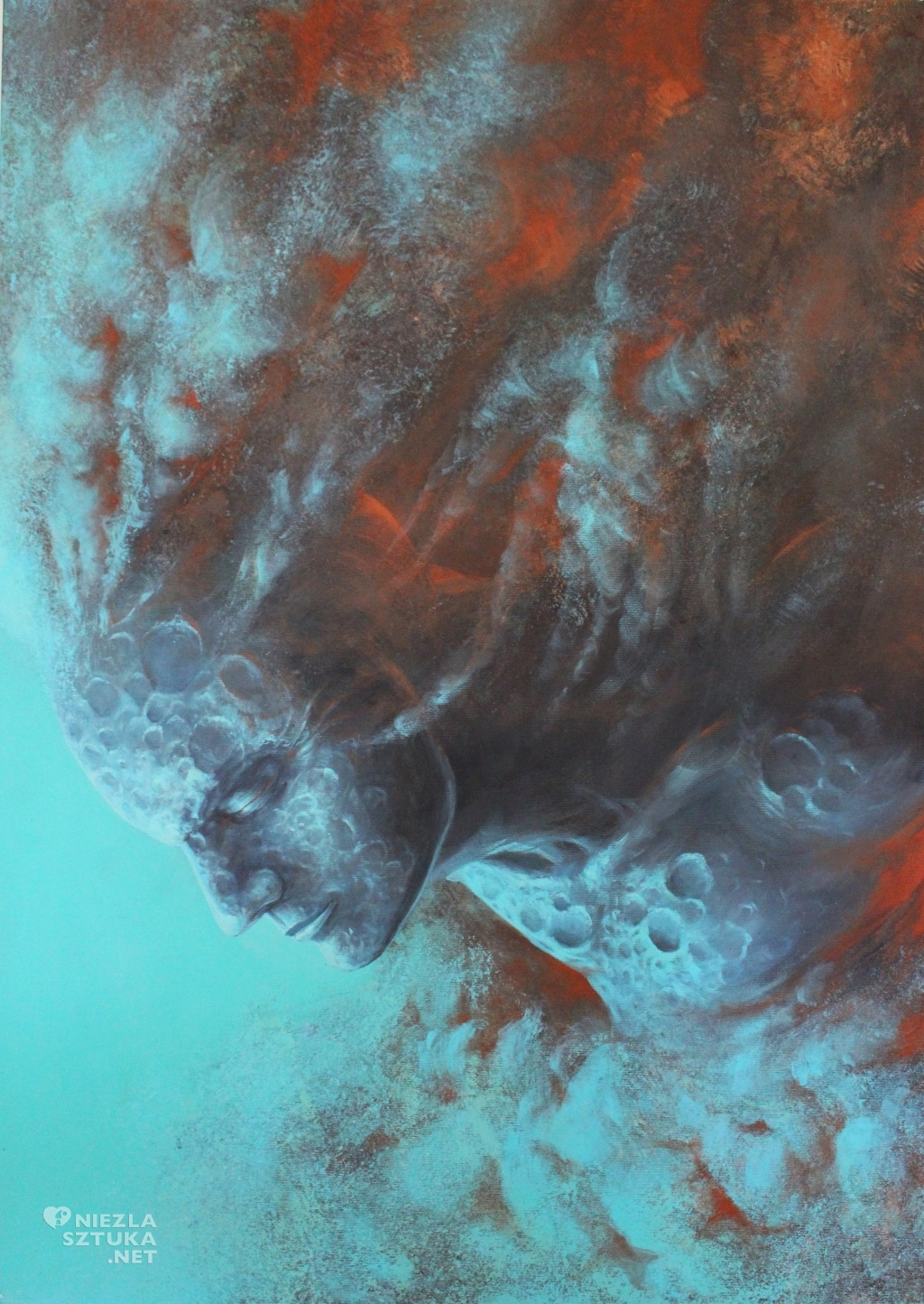 2015, 100x70, akryl na plotnie, Ksiezycowy