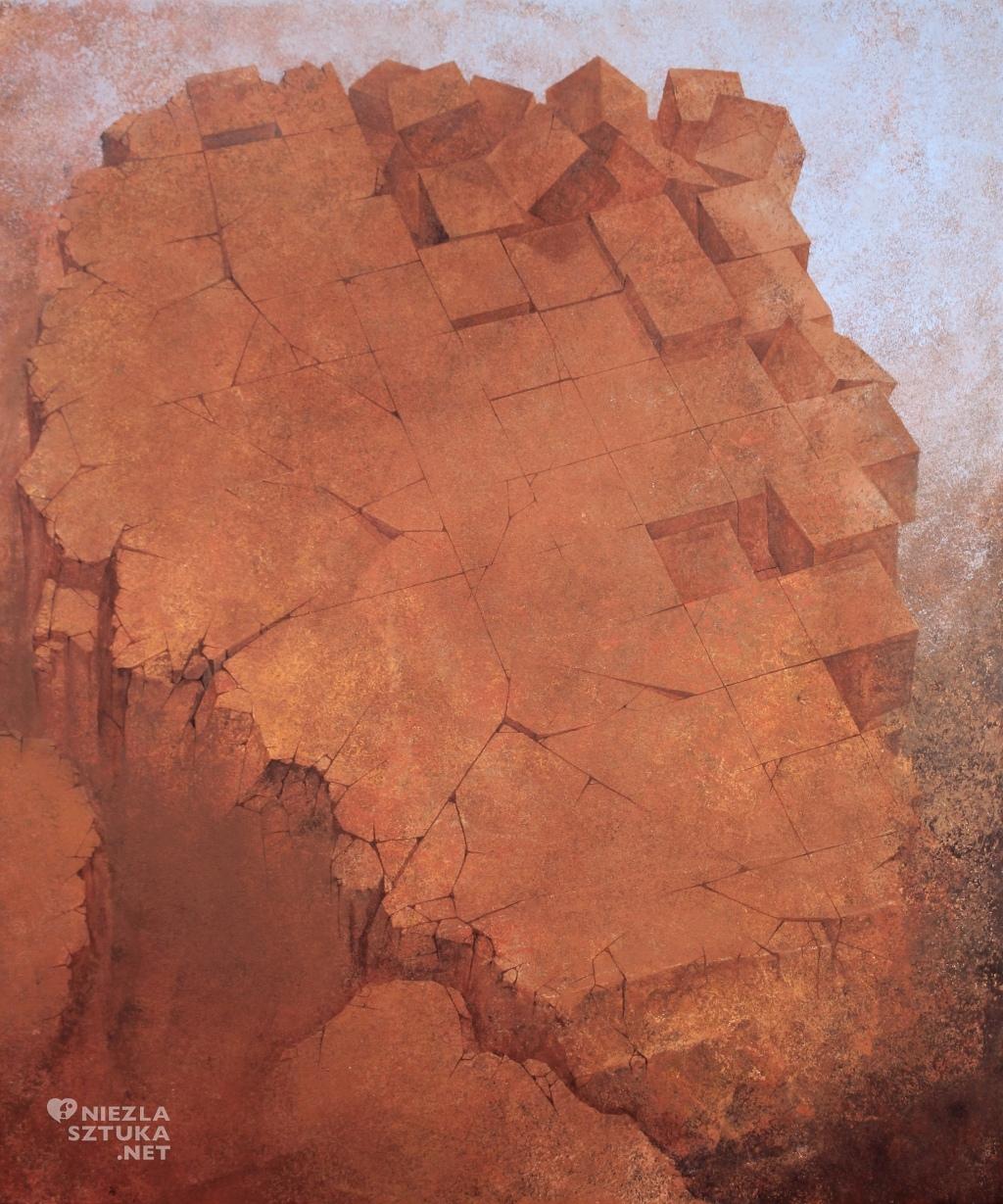 2015, 120x100, akryl na płótnie, Defragmentacja