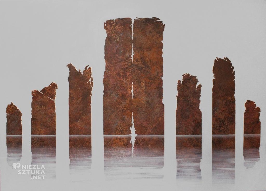2015, 140x100cm, akryl na plotnie, Upadek
