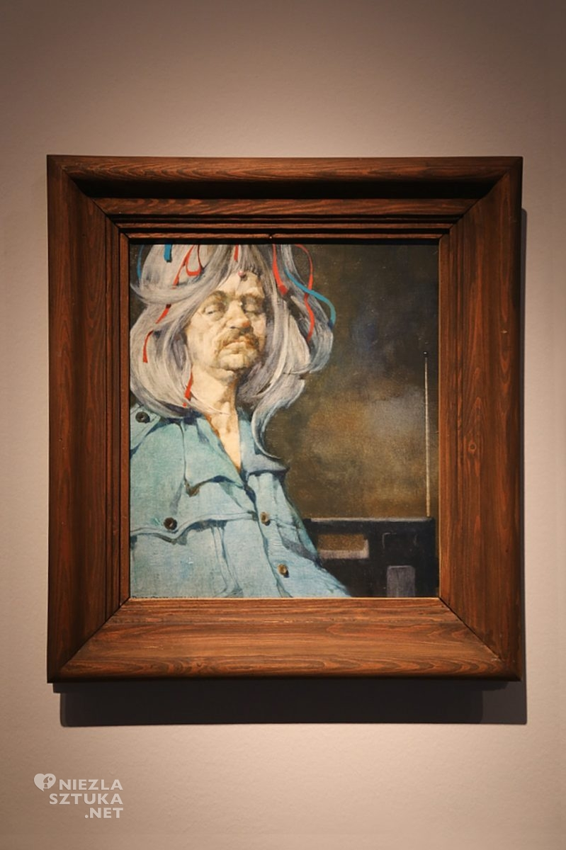 Autoportret w peruce, Incognito Ergo Sum | 1981, olej na płycie pilśniowej
