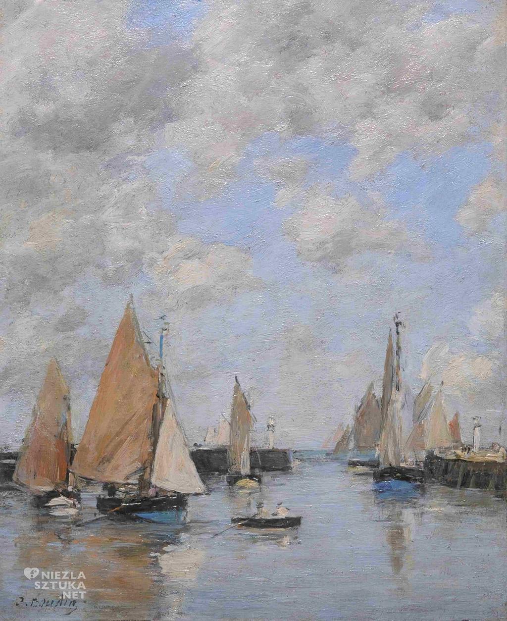 Eugène Boudin Trouville nabrzeze podczas przypływu   ok.1888-1895, Muzeum Narodowe w Gdańsku
