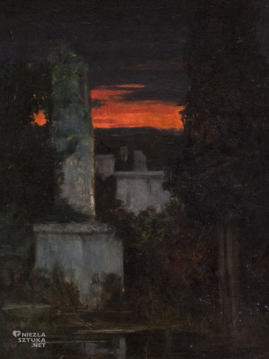 Adam Chmielowski Chmielowski Cmentarz wloski o zmroku, detal | 1880, Muzeum Narodowe w Krakowie