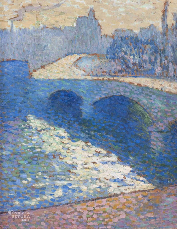 Robert Antoine Pinchon Sekwana w Rouen o zmierzchu   1905, Muzeum Narodowe w Gdańsku