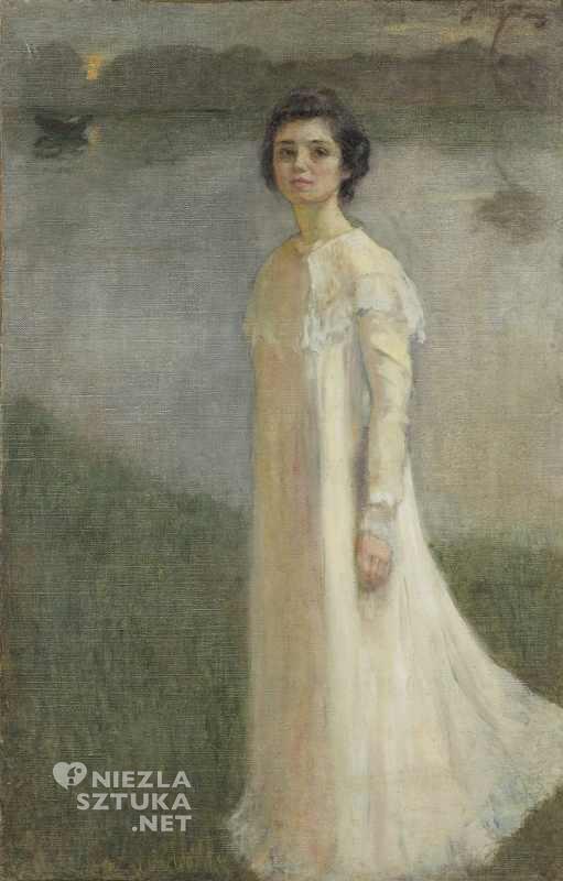Mela Muter, Autoportret w świetle księżyca, autoportret, sztuka polska, malarka, artystka, Niezła sztuka