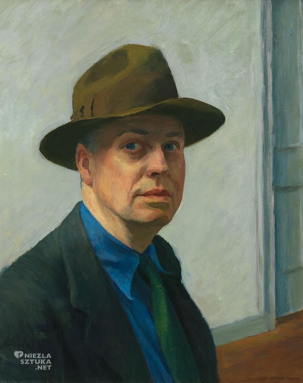 Edward Hopper Autoportret, sztuka amerykańska, portret, niezła sztuka