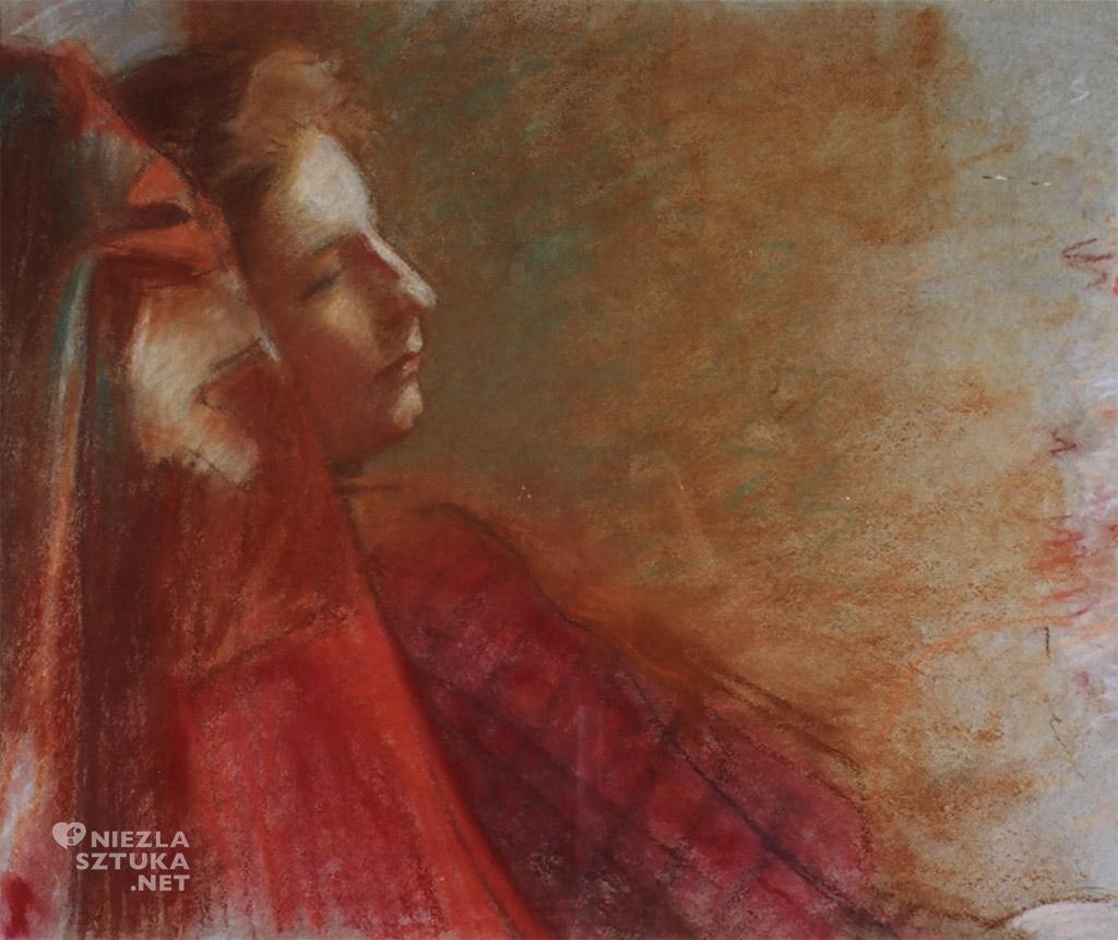 Wojciech Weiss, Portret Dagny Juel Przybyszewskiej | 1899, pastel na papierze, 49,5 x 60 cm, Muzeum Literatury, Niezła sztuka