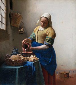 Johannes Vermeer, Mleczarka, slajd