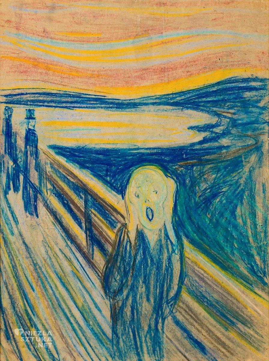 Edvard Munch, Krzyk, pastel, rysunek, Oslo, Niezła Sztuka