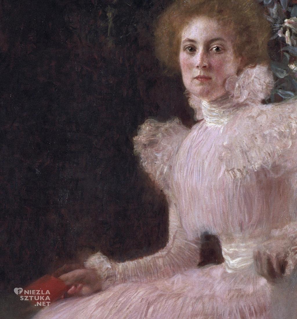 Gustav Klimt, Sonja Knips, kobiety Klimta, kobiety w sztuce, portret, detal, Niezła Sztuka