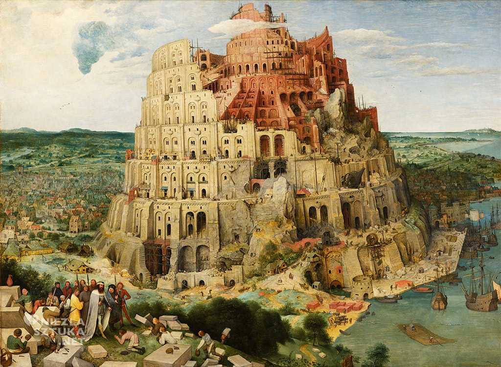 Pieter Bruegel, Wieża Babel, wiedeń, 1563, Niezła sztuka