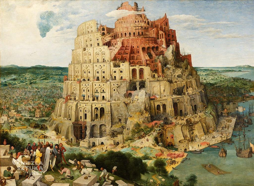 Pieter Bruegel,Wieża Babel, wiedeń, 1563, Niezła sztuka