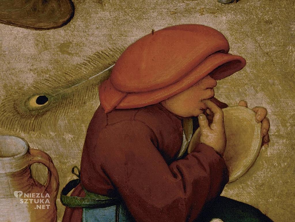 Pieter Bruegel Starszy Wesele chłopskie, detal | 1568