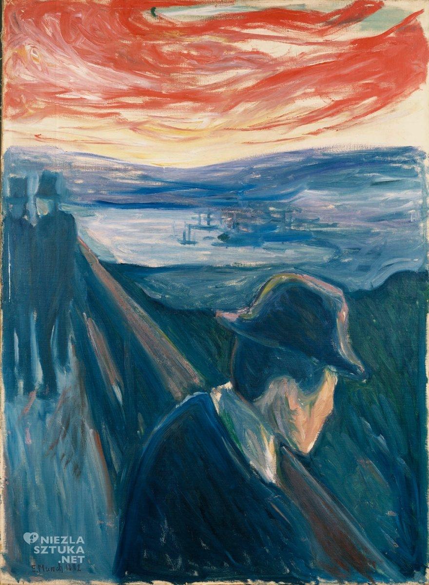 Edvard Munch, Rozpacz , malarstwo, portret, Niezła Sztuka