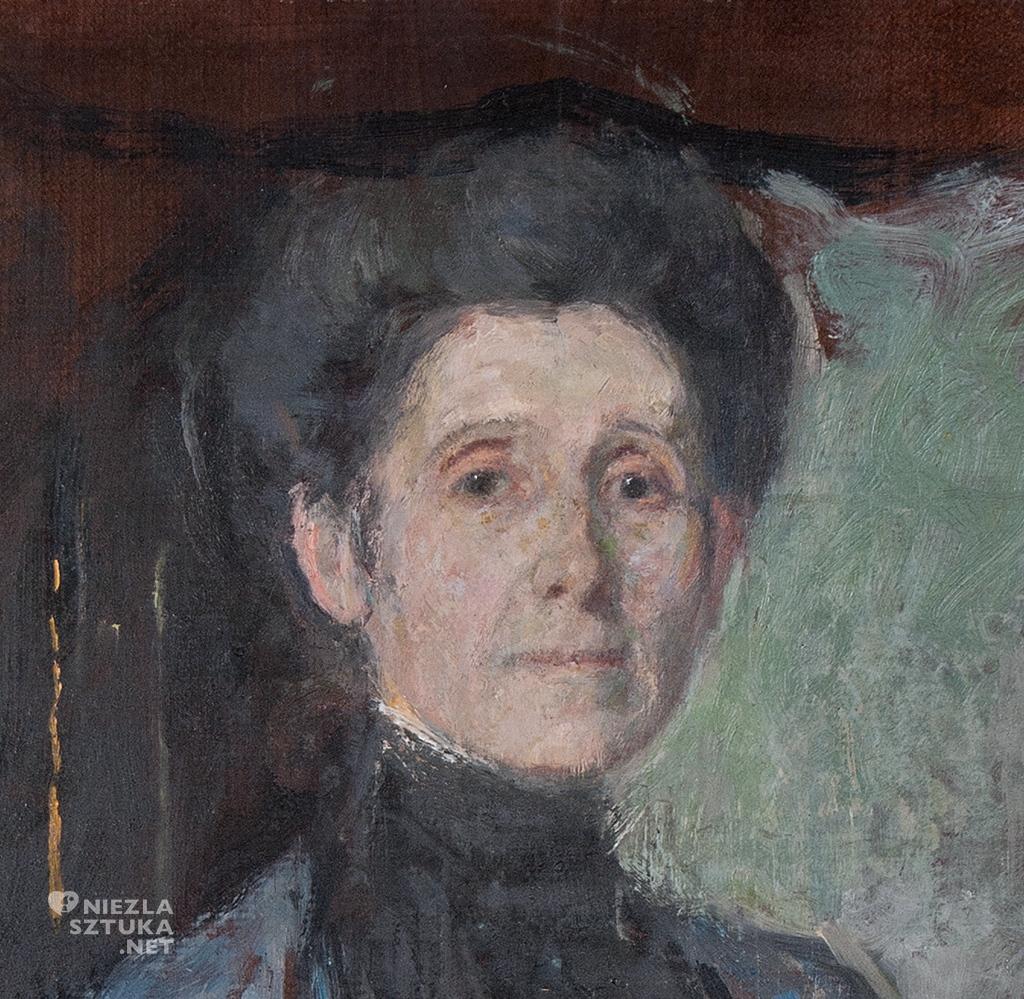 Olga Boznańska, Autoportret z pędzlem i kwiatami, Niezła sztuka