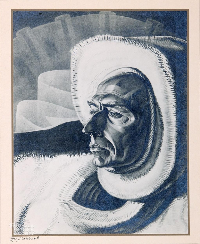 Stanisław Szukalski, Portret Svenda Lassena, 1934