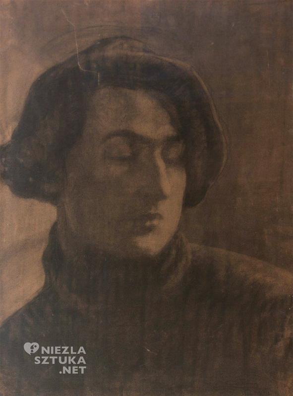 Stanisław Szukalski Autoportret, pastel, papier copy