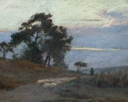 Maksymilian Gierymski, Krajobraz, wschód słońca, Muzeum Narodowe w Warszawie, Niezła sztuka