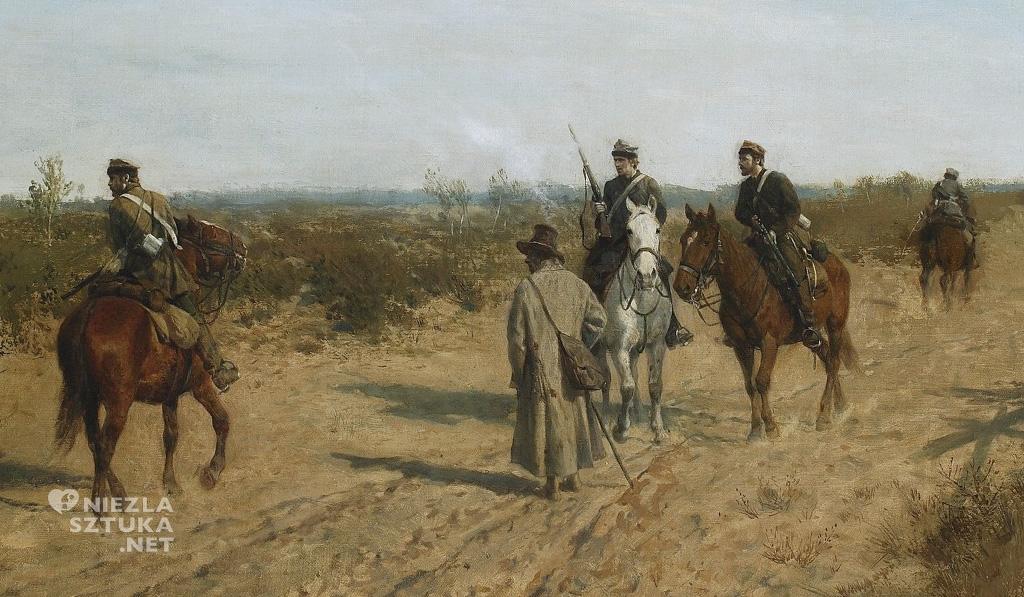 Maksymilian Gierymski Patrol powstańczy, detal | ok. 1873