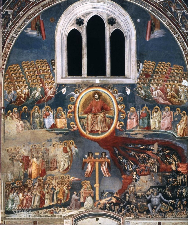 Giotto di Bondone Sąd Ostateczny ǀ ok. 1305, fresk z Kaplicy Scrovegnich (Padwa)