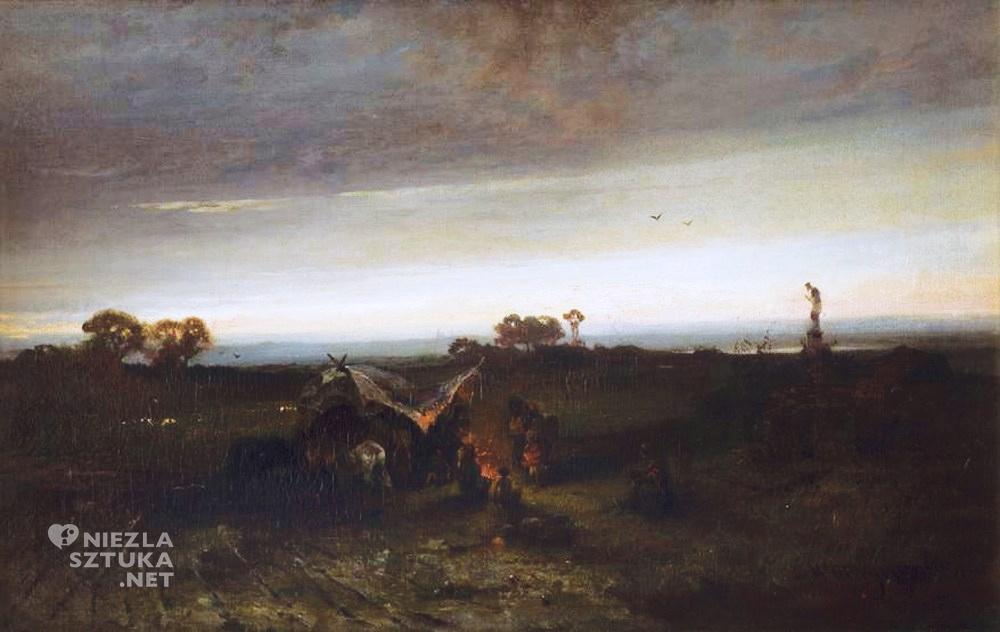 Maksymilian Gierymski <em>Obóz Cyganów I </em> | 1867-1868, Muzeum Narodowe w Krakowie