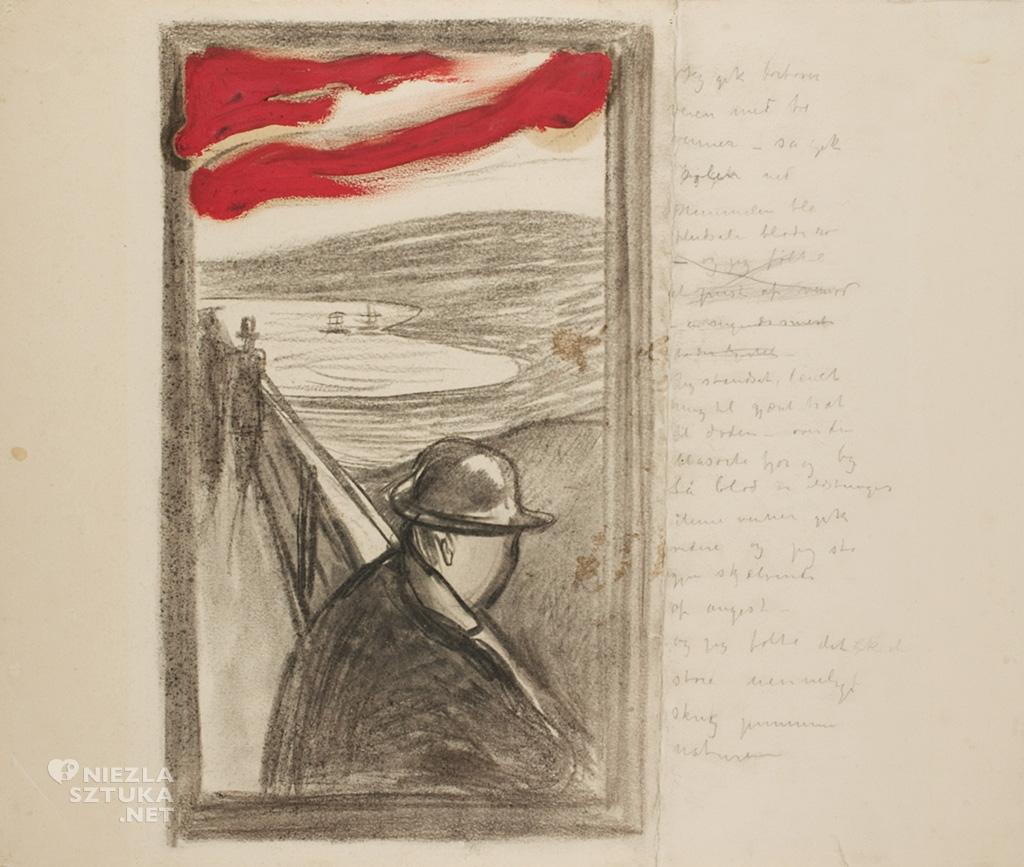 Edvard Munch, Rozpacz, szkic | 1891–92, Munch Museum.