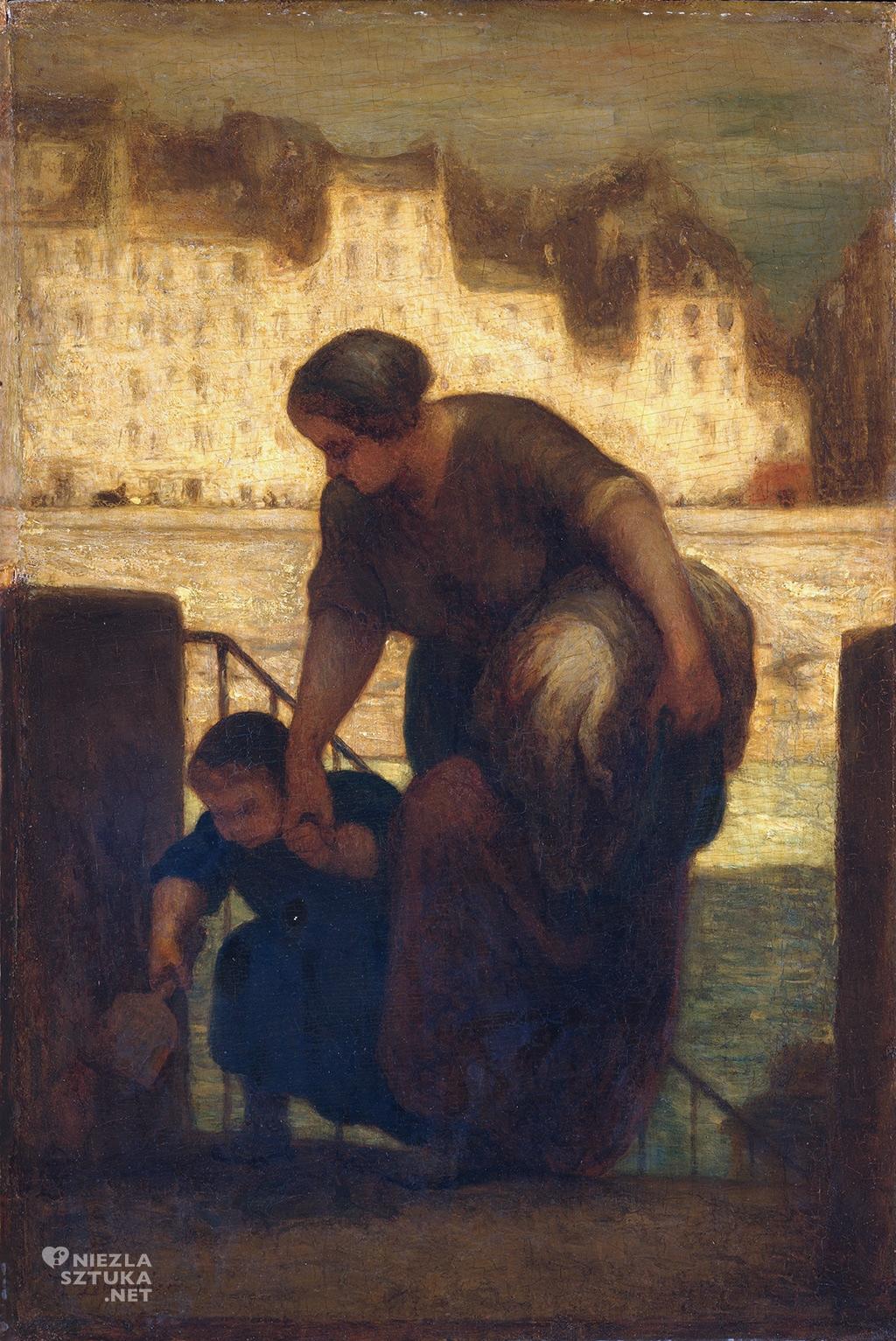 Honoré Daumier, Praczka, realizm, sztuka francuska, malarstwo, Niezła Sztuka