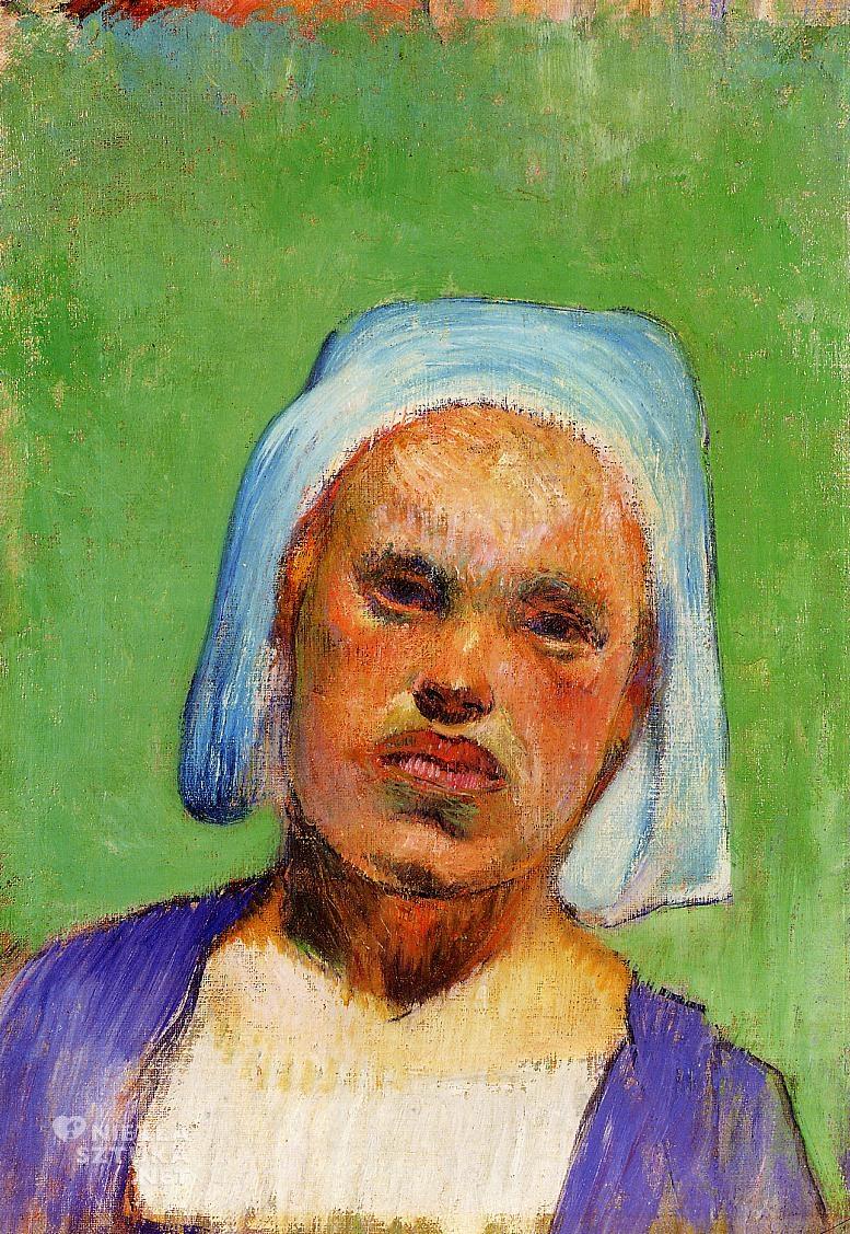 Paul Gauguin, Głowa Bretonki, Marie Louarn, sztuka, malarstwo, Niezła Sztuka
