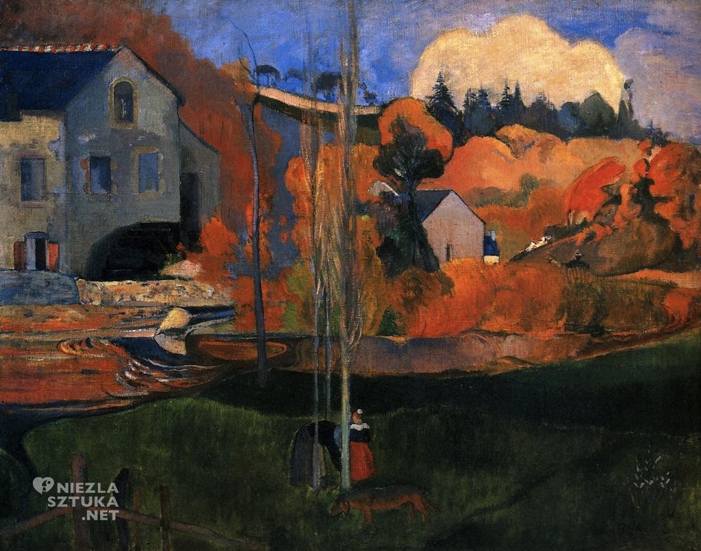 Paul Gauguin, Młyn w Pont-Avent, malarstwo europejskie, Francja, Niezła Sztuk