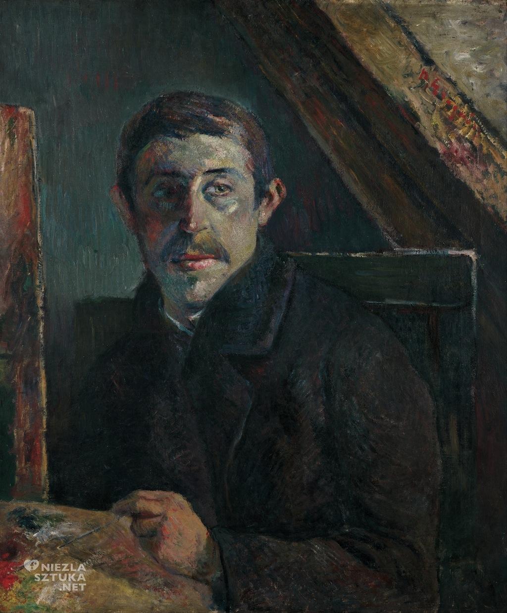 Paul Gauguin, Autoportret, sztuka europejska, malarstwo, Niezła Sztuka