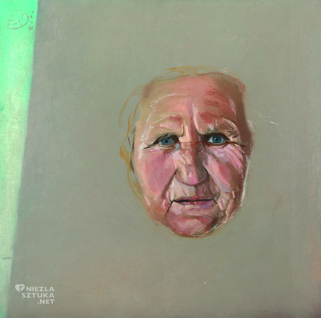 Portret szaro-zielony, 2007