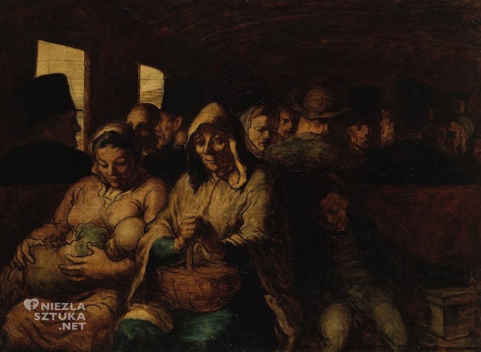 Honoré Daumier, Wagon trzeciej klasy, realizm, malarstwo francuskie, Niezła Sztuka
