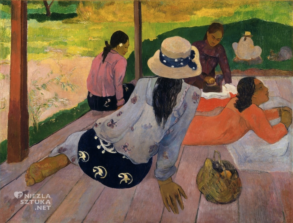 Paul Gauguin Siesta | ok. 1892-94, The Metropolitan Museum of Art, Nowy Jork