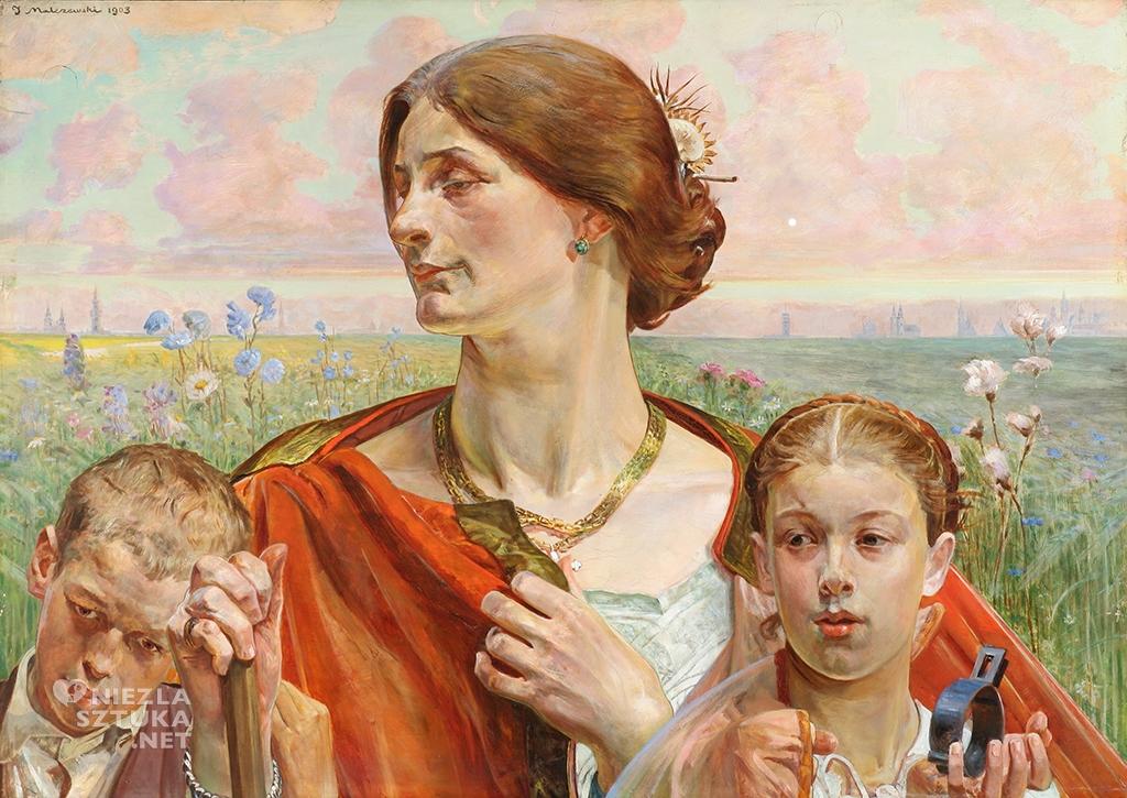 Jacek Malczewski Ojczyzna. (Uczucie), Tryptyk Prawo – Ojczyzna – Sztuka, 1903. Olej na desce. 69,5 × 98 cm. Muzeum Narodowe, Wrocław.
