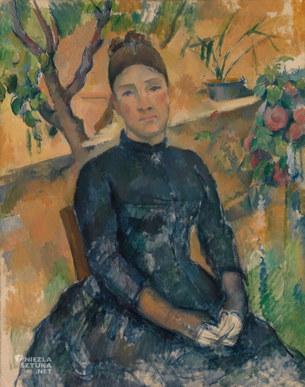 Paul Cézanne, Pani Cézanne, malarstwo, sztuka europejska, Niezła Sztuka