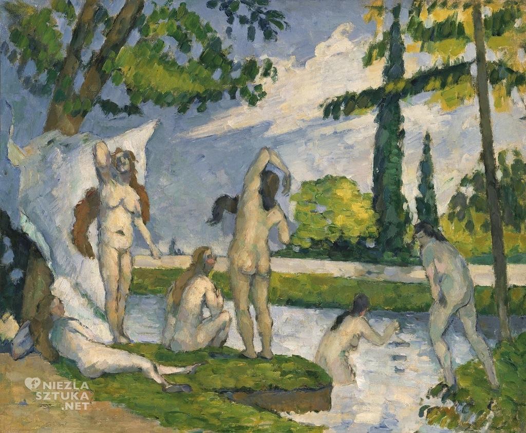 Paul Cézanne, Kapiące się, sztuka europejska, malarstwo francuskie, Niezła Sztuka