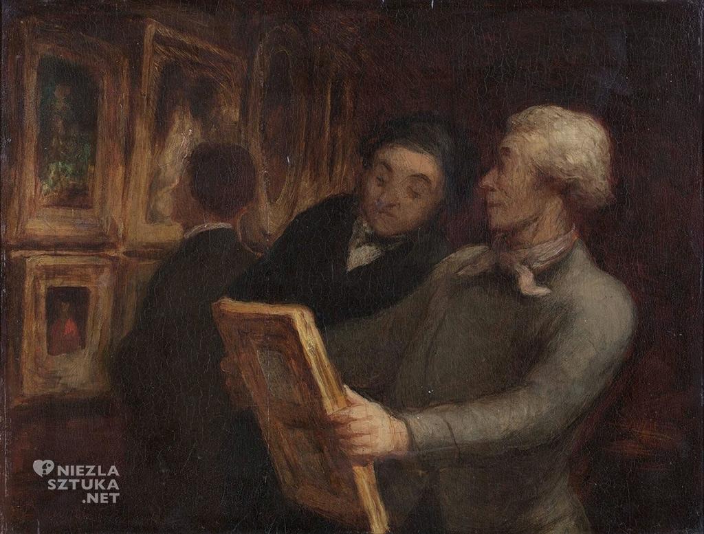 Honoré Daumier, Miłośnicy malarstwa, realizm, malarstwo, sztuka francuska, Niezła Sztuka