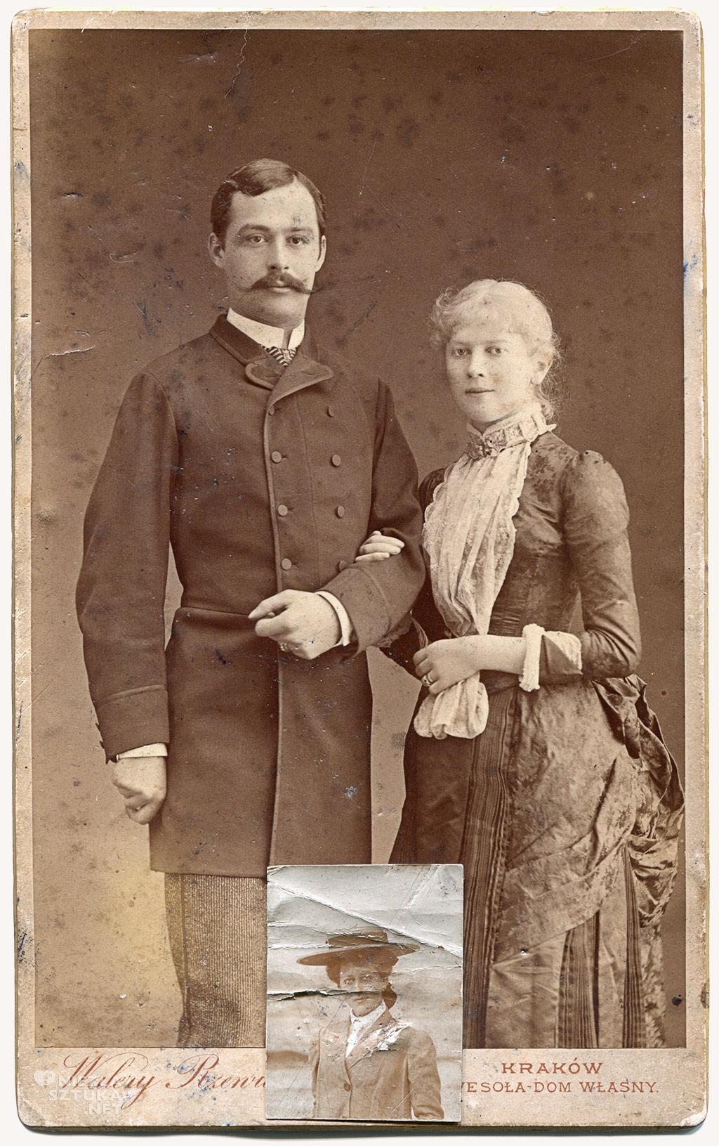 Wojciech Kossak z żoną Marią z Kisielnickich i córka Maria Pawlikowska-Jasnorzewska, fot. Walery Rzewuski, Kraków 1885, Muzeum Literatury