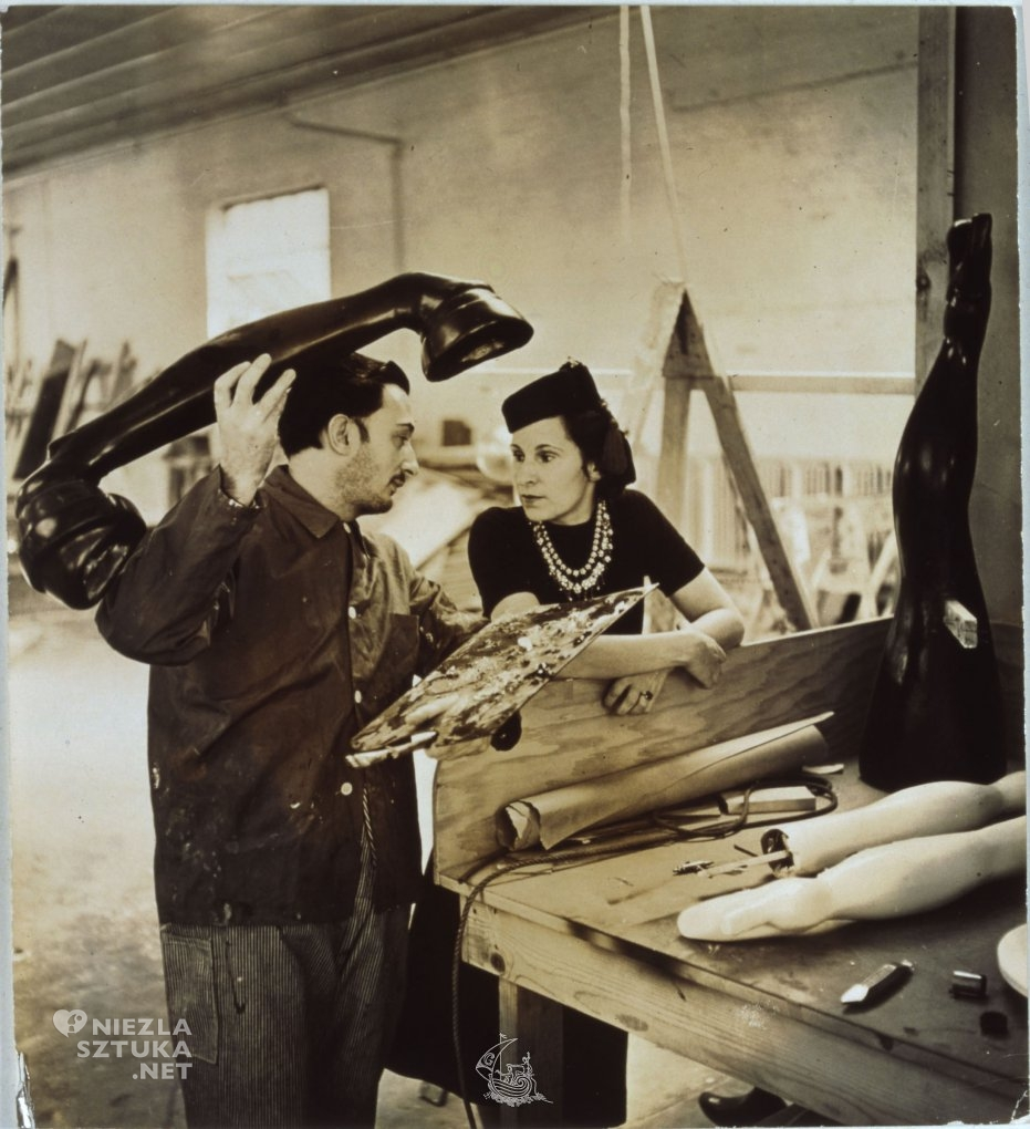 Eric Schaal, Salvador Dalí and Gala working on the Dream of Venus pavilion for the New York World Fair, 1939