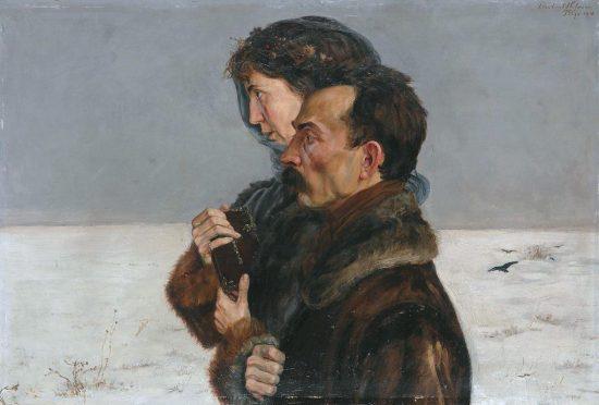 Wlastimil Hofman Autoportret z przyszłą żoną