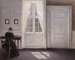 Vilhelm Hammershøi, Wnętrze na Strandgade, blask słoneczny na podłodze, 1901