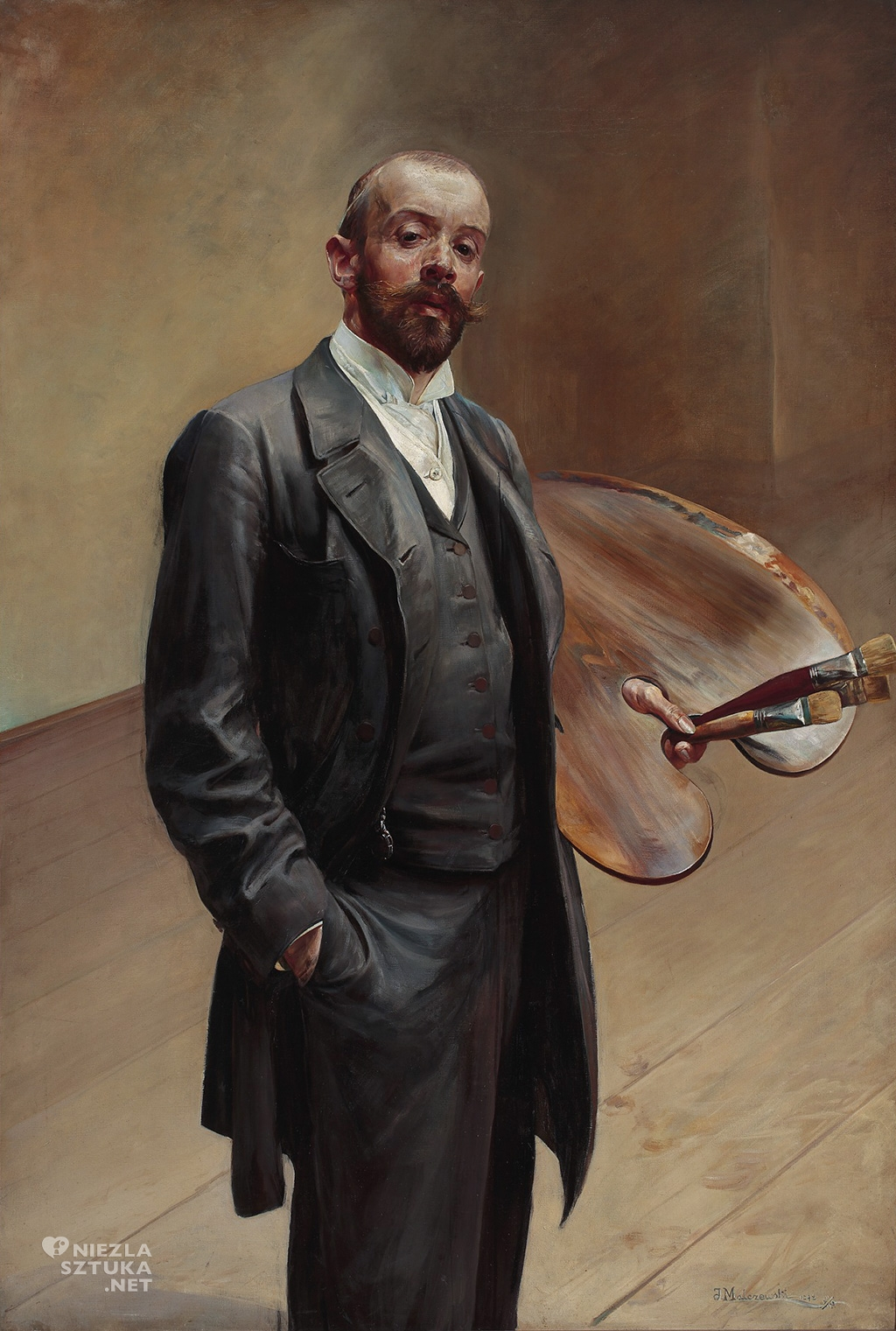 Jacek Malczewski, Autoportret z paletą, Muzeum Narodowe w Warszawie, sztuka polska, Niezła sztuka
