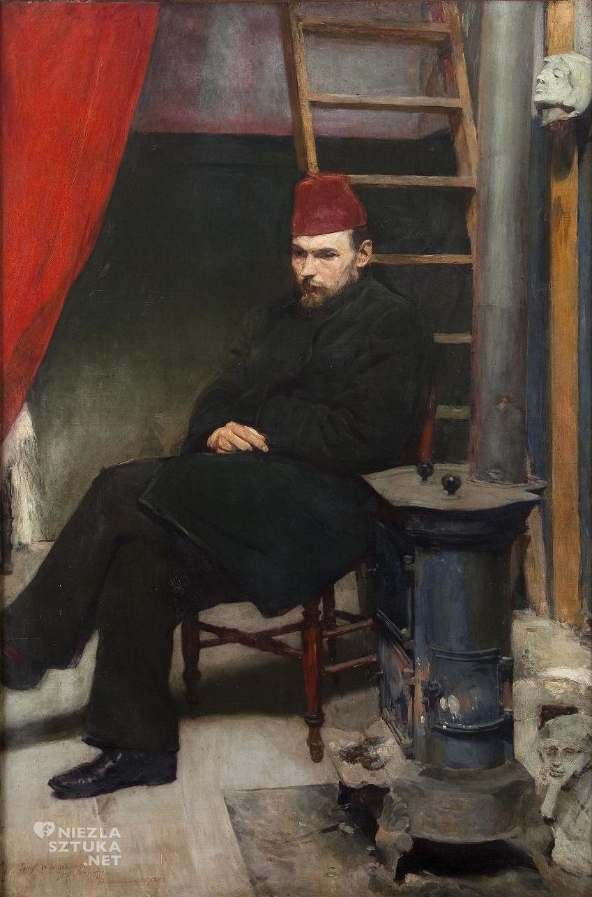 Józef Mehoffer, Portret rzeźbiarza, konstanty laszczka, sztuka polska, Niezła sztuka