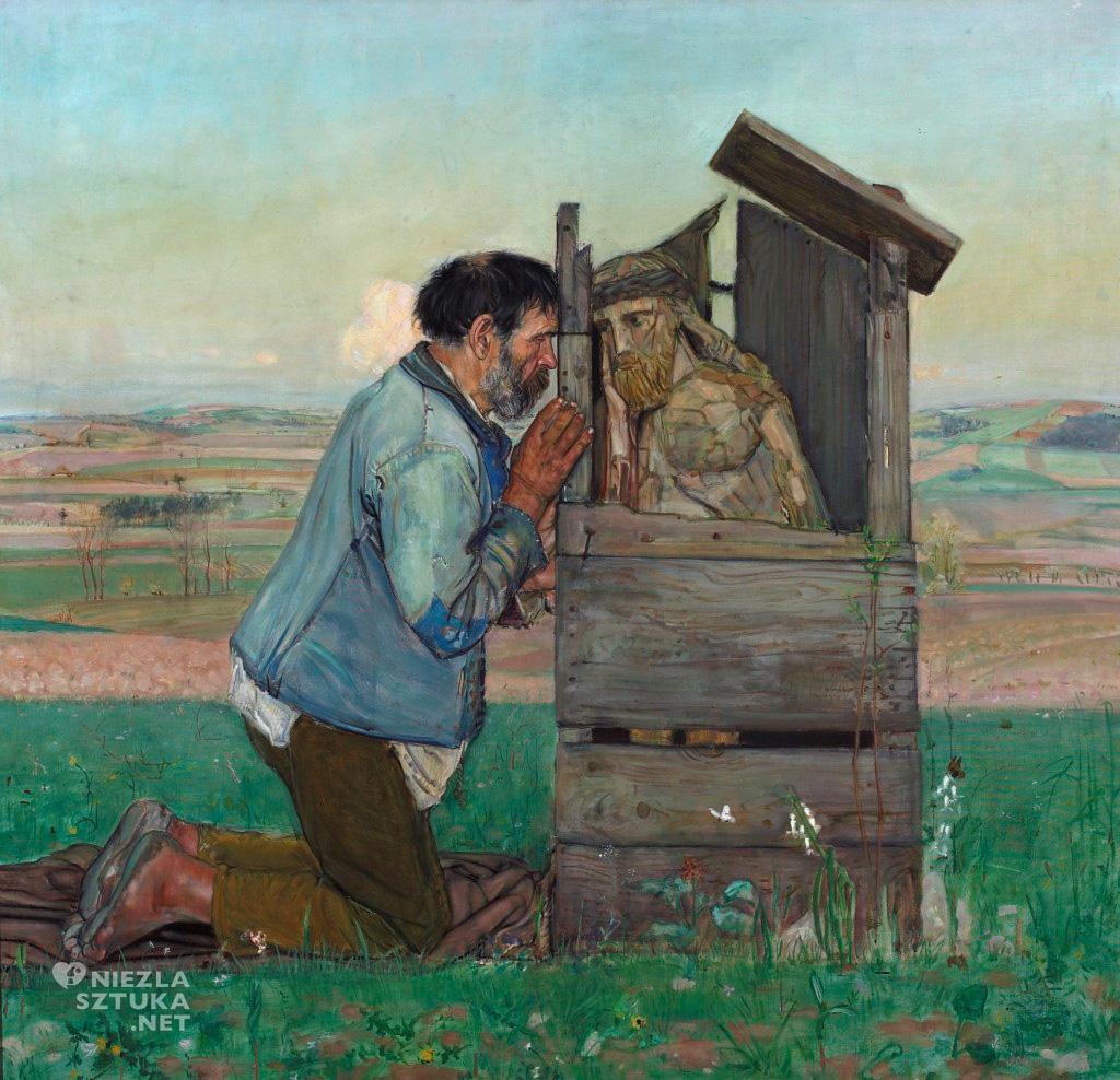 Wlastimil Hofman Spowiedź, 1906, olej, płótno; 139,5 x 146 cm, Muzeum Narodowe w Warszawie