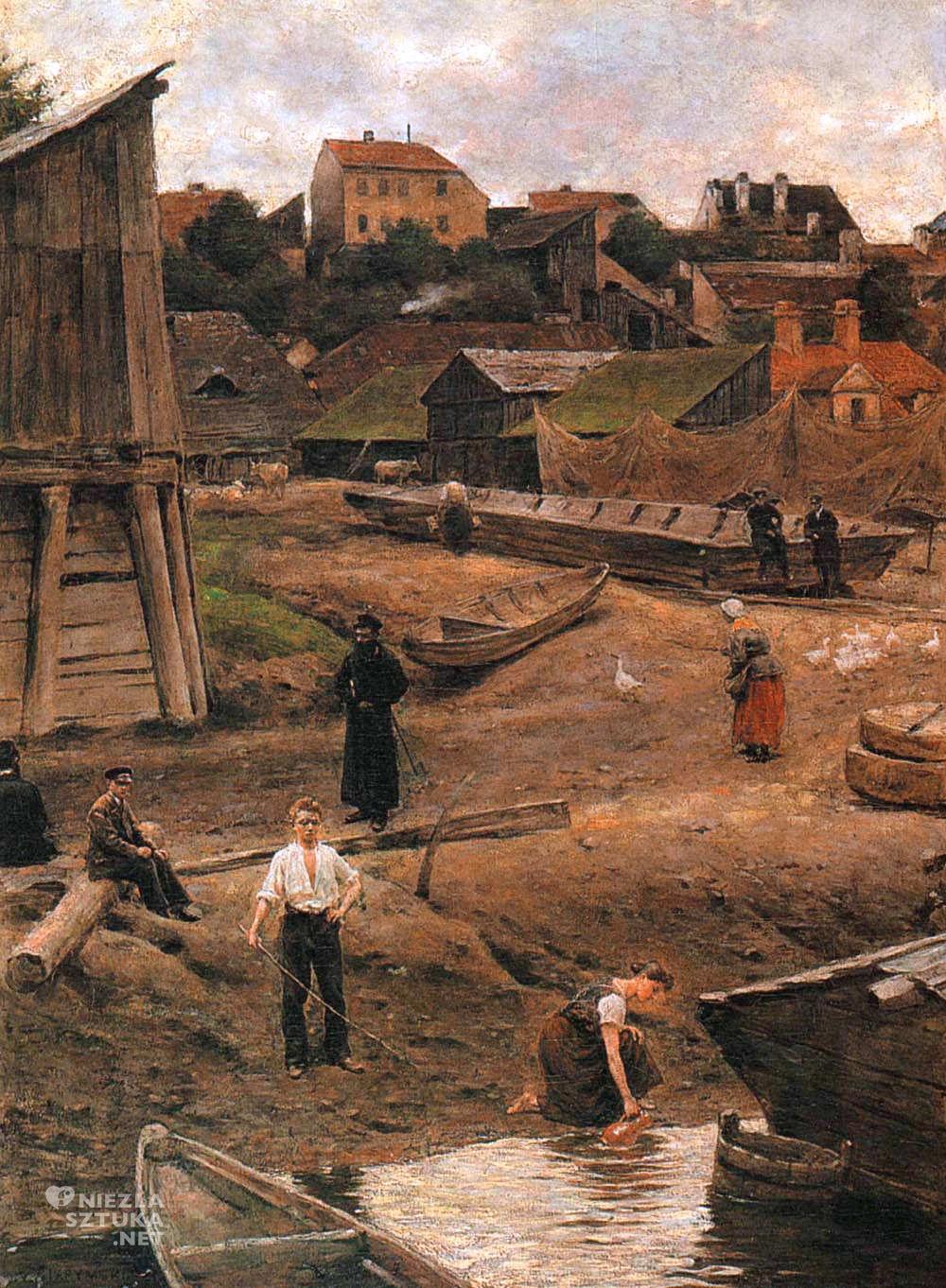 Aleksander Gierymski, Powiśle, Wisła, Warszawa, Muzeum Narodowe w Krakowie, Niezła sztuka