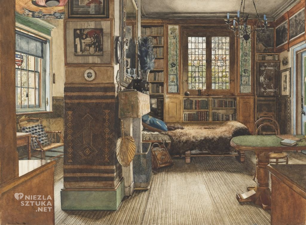 Anna Alma-Tadema Library in Townshend House, London 1884