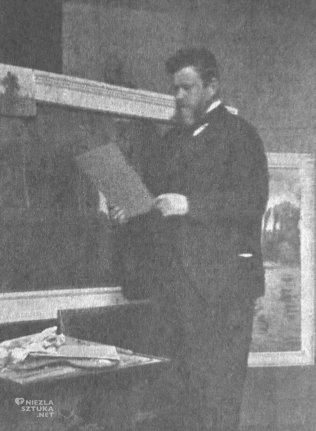 Jan Stanisławski w swojej pracowni, ok. 1903 r. fotografia archiwalna