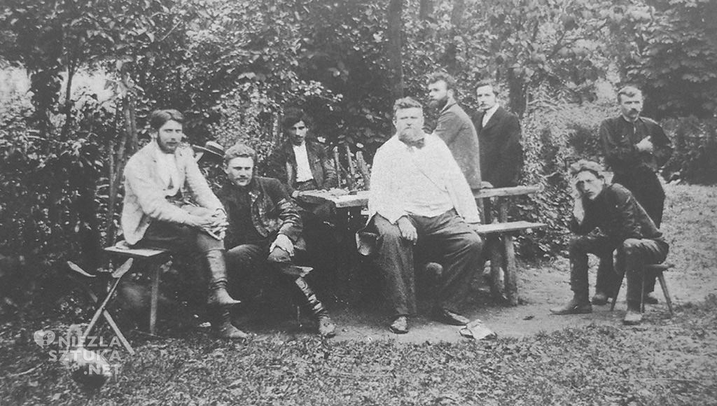 Jan Stanisławski z uczniami, ok. 1905, fot z archiwum autorki
