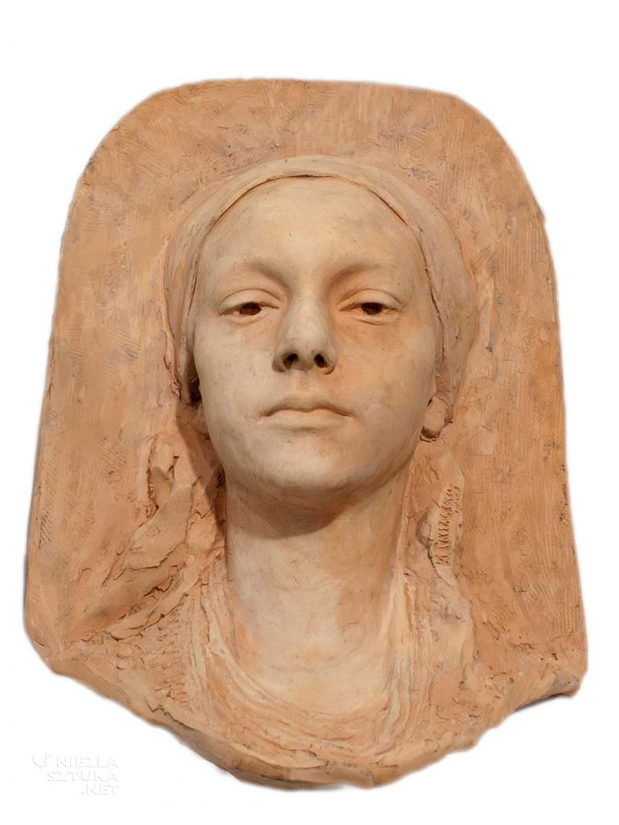 Konstanty Laszczka Głowa kobiety Galeria Mistrzów Polskich Muzeum Miasta Łodzi